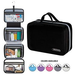 Hanging Travel Toiletry Bag for Men and Women | Makeup Bag | Cosmetic Bag | Bathroom and Shower  ...