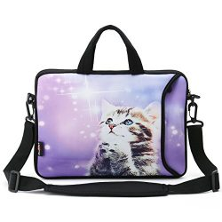 AUPET 14 14.1″ 14.2″ 15 15.4 15.6 inch Neoprene Laptop Sleeve Bag Carrying Case Mess ...