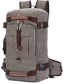 "Travel Backpack, Aidonger Vintage Canvas Hiking Daypack Shoulder Bag 15"" Laptop Backpack  ..."