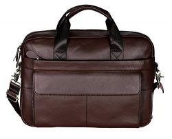 VIDENG M278 Men's Classic Top Cow Genuine Leather Business Handbag Briefcase Shoulder Mess ...