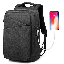 Laptop Backpack, Water Resistant College School Computer Bag for Men and Women with USB Charging ...