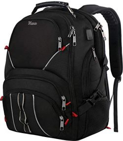 Large Bookbag,17Inch Laptop Backpack with Anti Theft Pocket for Men & Women,TSA Friendly Tra ...