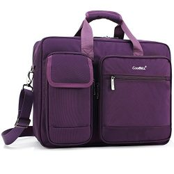 CoolBELL 17.3 Inch Laptop Briefcase Protective Messenger Bag Nylon Shoulder Bag Multi-functional ...