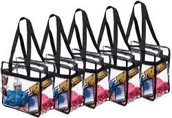 Set 3 NFL & PGA Compliant Clear Stadium Security Zippered Shoulder Bag Travel Gym Tote Sturd ...