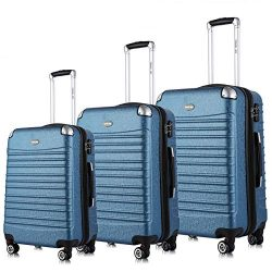 Travel Joy Expandable Luggage Set, TSA Lightweight Spinner Luggage Sets, Carry On Luggage 3 Piec ...