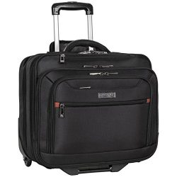 Heritage Travelware Polyester Wheeled Business Case Briefcase, Black, One Size