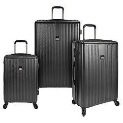 U.S. Traveler Sparta 3-Piece Super Lightweight Hardside 4-Wheel Spinner Luggage Collection with  ...