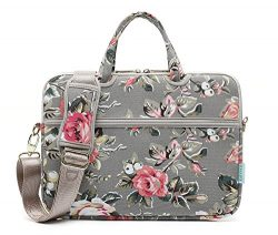 Kayond Canvas Fabric Ultraportable Neoprene Laptop Carrying Case/Shoulder Messenger Bag/Daily Br ...