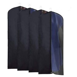 La Saveur 4 PACK 60 inch Clearly See What Inside Garment bags, Extra Long Nylon Suit Bag Dresses ...