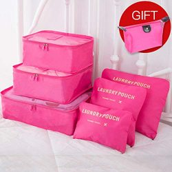 Anzu Bly 7PCs/Set Travel Storage Accessory Bag Clothes Tidy Pouch Luggage Organizer Portable Con ...
