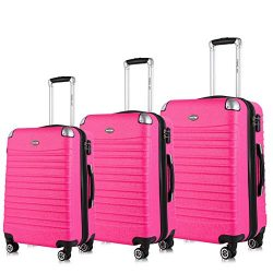 Expandable Luggage Set, TSA Lightweight Spinner Luggage Sets, Hard Shell Carry On Luggage 3 Piec ...