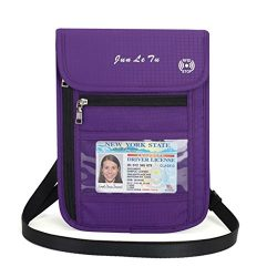 EA-STONE Neck Wallet with RFID Blocking Passport Holder – Concealed Waterproof Travel Pouc ...