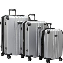 Kenneth Cole Reaction Reverb Hardside 8-Wheel 3-Piece Spinner Luggage Set: 20″ Carry-on, 2 ...