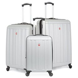 SwissGear Hardcase Spinner Luggage Set (Silver)