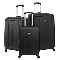 SwissGear Hardcase Spinner Luggage Set (Black)