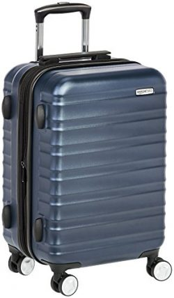 AmazonBasics Premium Hardside Spinner Luggage with Built-In TSA Lock – 20-Inch Carry-on, N ...