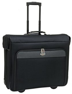 44″ Wheeled Garment Bag with Premium Fully-Lined Interior, Separate Shoe and Accessory Poc ...