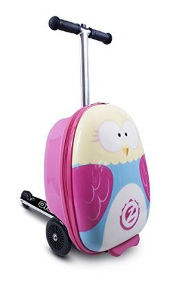 ZincFlyte Flyte ZC03909 Kid's Luggage Scooter 18″ – Olivia The Owl, one Size, Pink