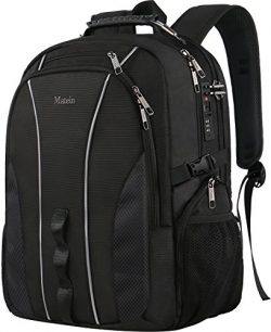 Large Travel Backpack, TSA Friendly Business Computer Backpack with Security Lock/USB Charging P ...