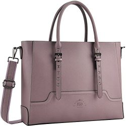 Laptop Bag for Women, 15.6 Inch Laptop Tote Multi-Pocket Work Tote Bag Structured Briefcase with ...