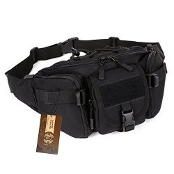 DYJ Utility Multipurpose Molle Tactical Waist Bag Hip Pack Military Fanny Pack Compact Waterproo ...