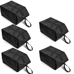 IUNIO Travel Shoe Bag Set of 5 Nylon Waterproof Storage Portable Organizer with Zipper Closure f ...
