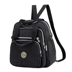 EasyHui Water Resistant Nylon Top Handle Bag Travel Backpack Large Capacity Shoulder Bag Three W ...