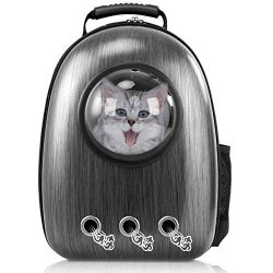 Giantex Astronaut Pet Cat Dog Puppy Carrier Travel Bag Space Capsule Backpack Breathable (Black)