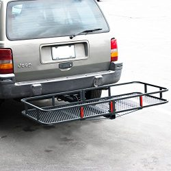 ARKSEN Folding Cargo Carrier Luggage Basket 2″ Receiver Hitch (60″ x 25″ inch) ...