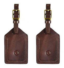 Leather Luggage Bag Tags | Privacy Flap Travel ID Case | Suitcase Name Tags By Aaron Leather (Ca ...