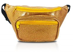 Shiny Gold Fanny Pack That Sparkles (Sparkle Gold)