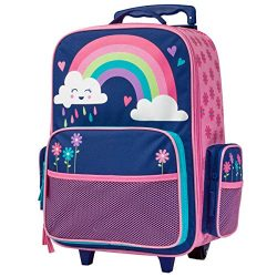 Stephen Joseph Girls' Little Classic Rolling Luggage, Rainbow