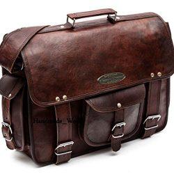 Handmade_World leather messenger bags for men women 18″ mens briefcase laptop bag best com ...