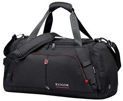 SWISS RUIGOR MOTION 07 Duffel bag (Black) with water repellent materials