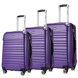 Expandable Luggage Set, TSA Lightweight Spinner Luggage Sets, Carry On Luggage 3 Piece Set Free  ...