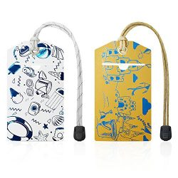 Luggage Tags for Women, Men and Kids – Set of 2 Baggage Tags for Travel