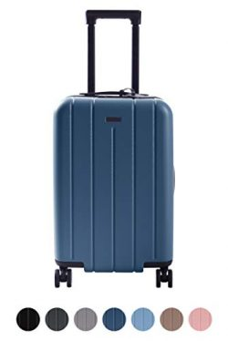 CHESTER Carry-On Luggage/22″ Lightweight Polycarbonate Hardshell/Spinner Suitcase/TSA Appr ...