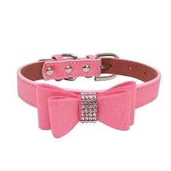 Collar For Small Dogs And Cats Cute Bowtie Dog Collar For Girls And Boys Pet Shiny Diamond Bow C ...
