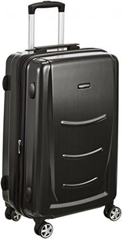 AmazonBasics Hardshell Spinner Luggage – 24-Inch, Slate Grey