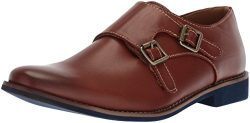 Deer Stags Boys' Harry Monk-Strap Loafer, Dark Luggage, 2 M Medium US Little Kid