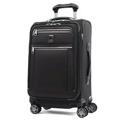 Travelpro Luggage Platinum Elite 21″ Carry-on Expandable Spinner w/USB Port, Shadow Black