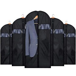 HOUSE DAY 5 Pack 42 inch Garment Covers Garment Bag Lightweight Oxford Fabric Suit Bags Moth-Pro ...
