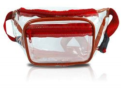 Clear Fanny Pack. Stadium Approved Waist Bag for Events, Games, and Concerts