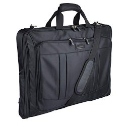Foldable Carry On Garment Bag Fit 3 Suits, Luggage Suit Bag for Travel and Business with Shoulde ...