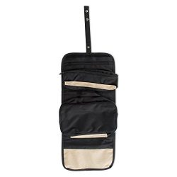 Roll-Up Travel Bag Makeup Case for Cosmetics, Jewelry, Accessories, Travel, and Toiletry Essenti ...