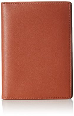 AmazonBasics Leather RFID Blocking Passport Wallet, Brown