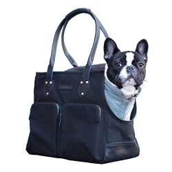 DJANGO Dog Carry Bag – Waxed Canvas and Leather Soft-Sided Pet Travel Tote with Bag-to-Har ...