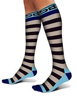 SB SOX Compression Socks (20-30mmHg) for Men & Women – Best Stockings for Running, Med ...