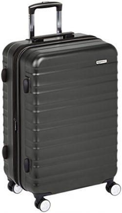AmazonBasics Premium Hardside Spinner Luggage with Built-In TSA Lock – 28-Inch, Black