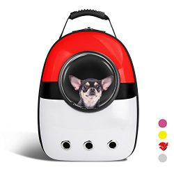 AntTech Breathable Pet Travel Poke Ball Backpack Space Capsule Carrier Bag Hiking Bubble Backpac ...